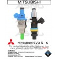 1100cc ASNU Mitsubishi DSM or EVO 8/9  Injector Set