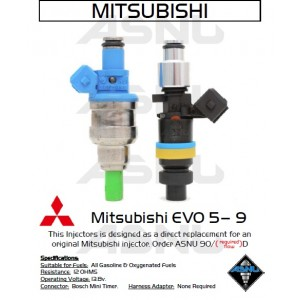 1050cc 14 Hole ASNU Mitsubishi DSM or EVO 8/9  Injector Set